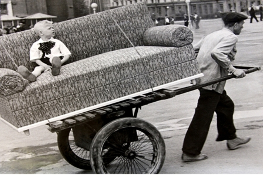© Leonid Pikus   (Леонид Пикус ) - Leonid Pikus.   Moving to a new apartment.           Russia, 1958